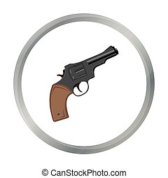 Revolver icon cartoon. Singe western icon from the wild west...