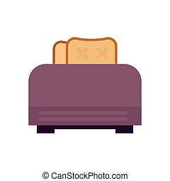 Old fashioned toaster vector illustration. Kitchenware...