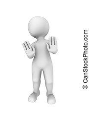 3d person shows negative gesture.