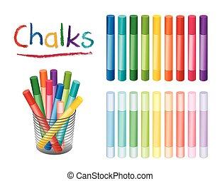 Chalk Crayons, Desk Organizer