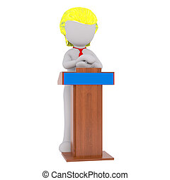 Donald Trump applauding figure - 3D figure of faceless...