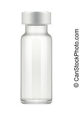 Transparent glass vial for drug. - Empty transparent glass...