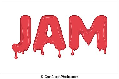 Vector word made of jam.