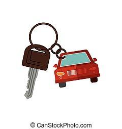 car shaped key chain icon