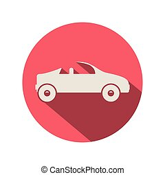 circular shape with convertible silhouette vector...