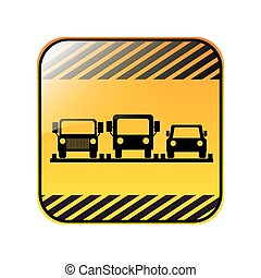 traffic sign parking area for cars