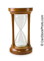 hourglass isolated on a white backgrond