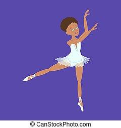 Cute little ballerina