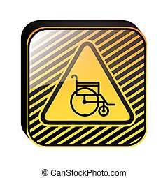 road sign design with wheelchair vector illustration