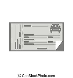 gray coupon for car icon vector illustration