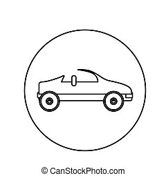 silhouette circular shape with convertible vector...