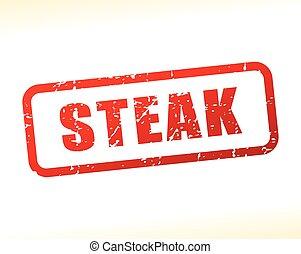 steak text stamp
