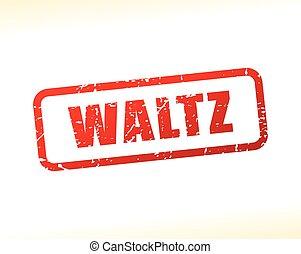 waltz text stamp - Illustration of waltz text stamp