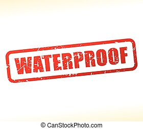 waterproof text stamp - Illustration of waterproof text...