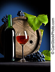 Composition from grapes and red wine