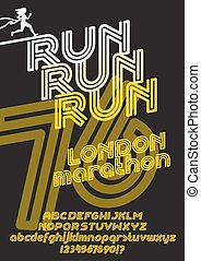 London marathon run poster
