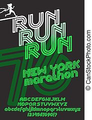 New York marathon run poster