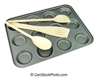 Non Stick Bun Baking Tray - Metal non stick bun baking tray...