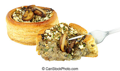 Mushroom And Spinach Vol Au Vents - Mushroom and spinach...