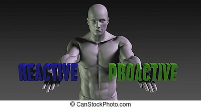 Reactive or Proactive as a Versus Choice of Different Belief