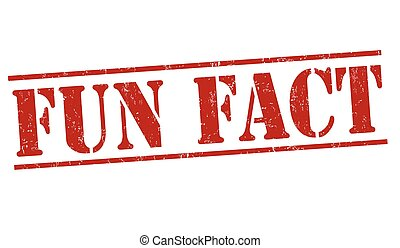Fun fact sign or stamp - Fun fact grunge rubber stamp on...