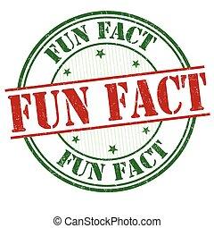 Fun fact sign or stamp - Fun fact grunge rubber stamp on...