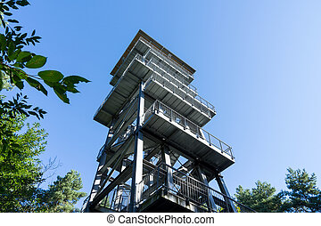 observation tower and blue sky
