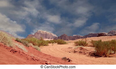 Wadi Rum Desert, Jordan, Middle East-- also known as The...