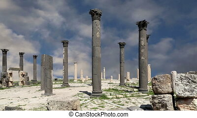 Roman ruins at Umm Qais (Umm Qays), Jordan, Middle East --is...