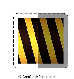 dotted sticker traffic barrier icon vector illustration