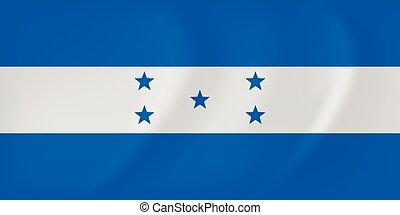 Honduras waving flag - Vector image of the Honduras waving...