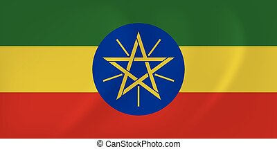 Ethiopia waving flag - Vector image of the Ethiopia waving...