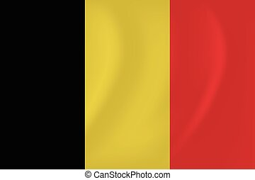Belgium waving flag - Vector image of the Belgium waving...