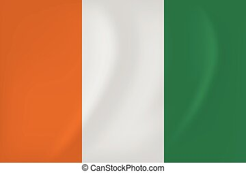 Cote d Ivoire waving flag - Vector image of the Cote d...
