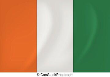 Cote d Ivoire waving flag - Vector image of the Cote d...