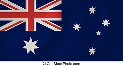 Australia waving flag - Vector image of the Australia waving...