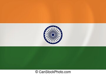 India waving flag