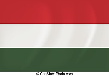 Hungary waving flag - Vector image of the Hungary waving...