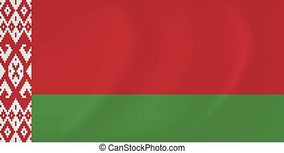 Byelorussia waving flag - Vector image of the Byelorussia...