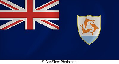 Anguilla waving flag - Vector image of the Anguilla waving...