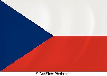 Czech Republic waving flag - Vector image of the Czech...
