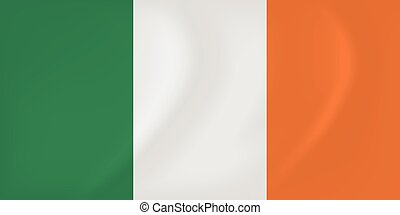 Ireland waving flag - Vector image of the Ireland waving...