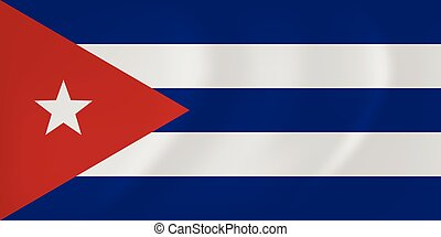 Cuba waving flag - Vector image of the Cuba waving flag