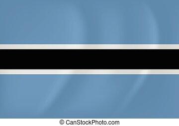 Botswana waving flag - Vector image of the Botswana waving...