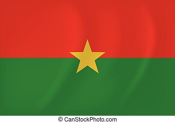 Burkina Faso waving flag - Vector image of the Burkina Faso...