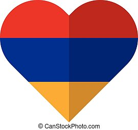 Armenia flat heart flag - Vector image of the Armenia flat...