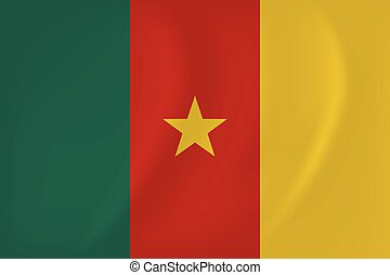 Cameroon waving flag - Vector image of the Cameroon waving...