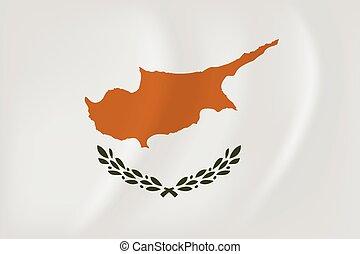 Cyprus waving flag - Vector image of the Cyprus waving flag