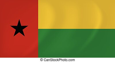 Guinea-Bissau waving flag - Vector image of the...
