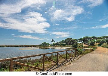 Quinta do Lago landscape, in Algarve, Portugal
